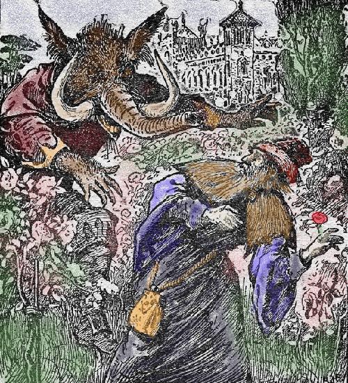 Ilustración de H. J. Ford, una de las representaciones más fieles del monstruo descrito por Villeneuve.