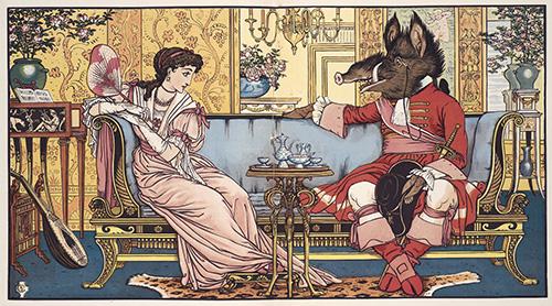 Walter Crane: la Bella y la Bestia