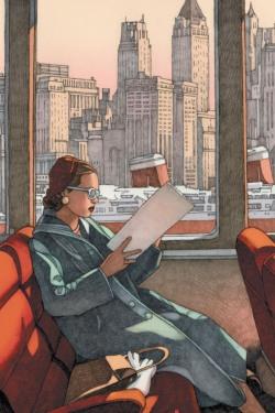 Ilustración de Miles Hyman para la adaptación gráfica de La Lotería