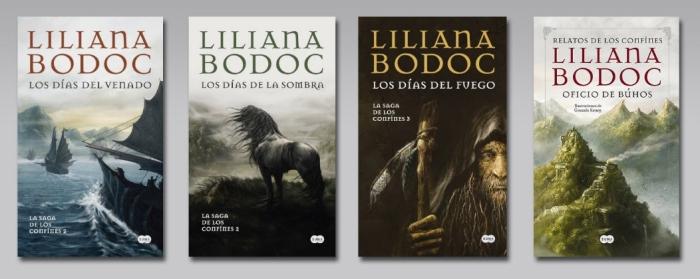Portadas de La Saga de los Confines en el sello Suma de Letras.