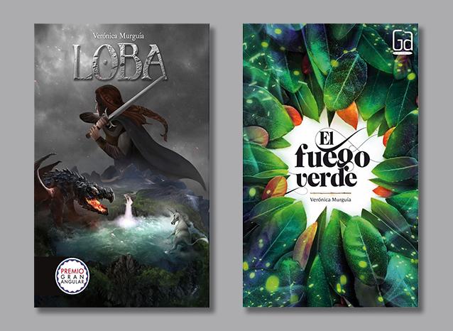 Portadas de Loba y El fuego verde (Colección Gran Angular).