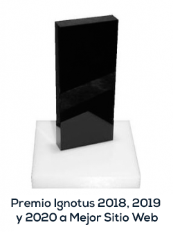 Premio Ignotus 2018, 2019 y 2020 a Mejor Sitio Web