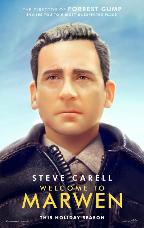Un muñeco de plástico con la cara de Steve Carell.