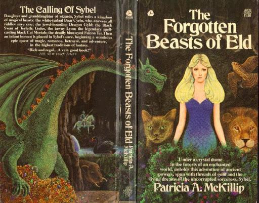 La portada, en un estilo algo anticuado, nos muestra una imagen bastante similar. Una chcia de pelo rubio en el centro, rodeada de animales (un gato, un pájaro, un león y un dragón). Al fondo se ve a un caballero con armadura montado en un caballo blanco.
